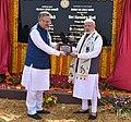 The Prime Minister, Shri Narendra Modi inaugurates the Nandan Van Jungle Safari, at Naya Raipur, Chhattisgarh on November 01, 2016. The Chief Minister of Chhattisgarh, Dr. Raman Singh is also seen (1).jpg