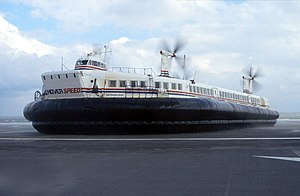 SR.N4 - An SR.N4, Princess Anne, at Calais