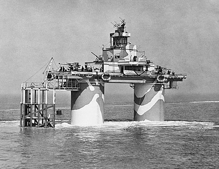 A British North Sea World War II Maunsell Fort. The Royal Navy during the Second World War A26878.jpg