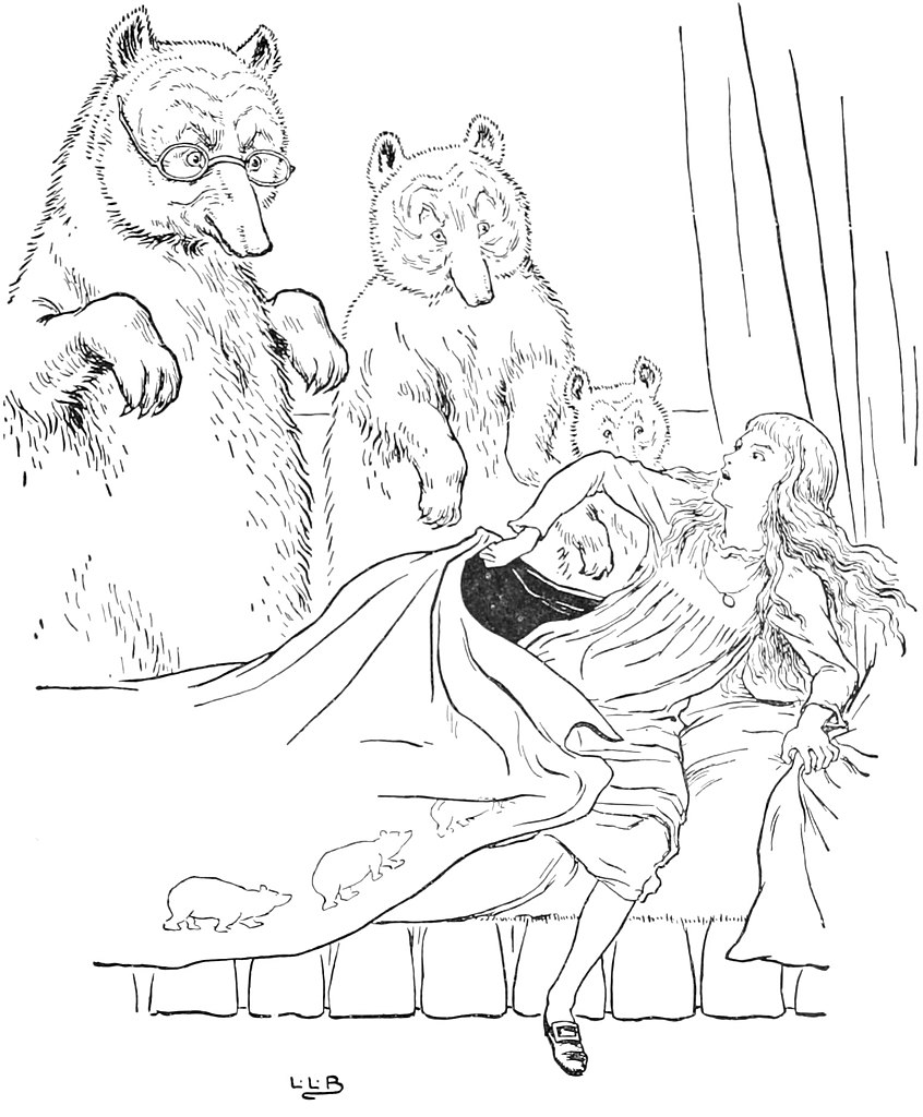 Colouring pages goldilocks and three bears - File The Story Of The Three Bears Pg 25 Jpg