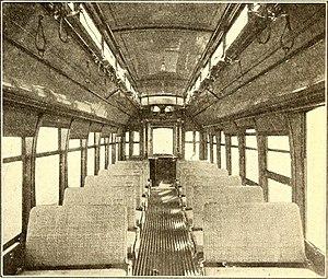 Boring, Oregon - Interior of trains operating through Boring, 1907.