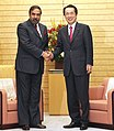 The Union Minister for Commerce and Industry, Shri Anand Sharma meeting the Prime Minister of Japan, Mr. Naoto Kan, in Tokyo on February 15, 2011.jpg