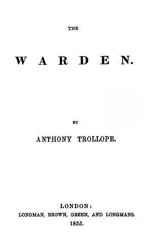 The Warden - First edition title page