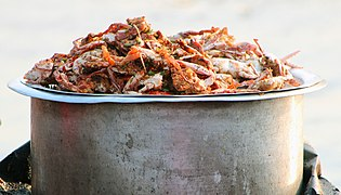 The crab is being prepared for frying at Patenga Sea Beach.jpg