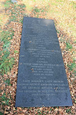Frederick Arthur - The grave of Sir Frederick Leopold Arthur, Brompton Cemetery, London