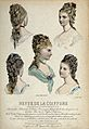 The heads and shoulders of five women with their hair combed Wellcome V0019893EL.jpg