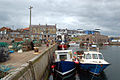 The inner harbour at Seahouses with the town beyond - geograph.org.uk - 1379453.jpg