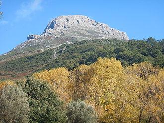 Monte Scuderi - Mount Scuderi seen from the Santissima gorge