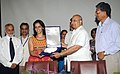The renowned Badminton player of India and daughter of Dr. Harbir Singh, Principal Scientist, Directorate of Oilseeds Research, Hyderabad, Ms. Saina Nehwal being felicitated by ICAR for her glorious achievement in Badminton.jpg