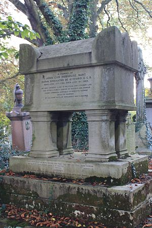 John Hobhouse, 1st Baron Broughton - The tomb of John Cam Hobhouse, Kensal Green Cemetery, London
