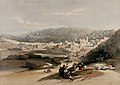 The town of Hebron. Coloured lithograph by Louis Haghe after Wellcome V0049466.jpg