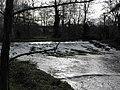 The weir at Banoge Bridge, Hall Road. Donaghcloney - geograph.org.uk - 1591075.jpg