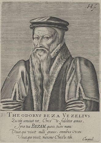 Theodore Beza - Woodcut of Theodore Beza