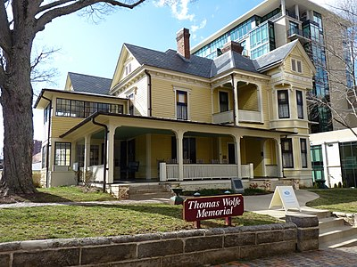 Thomas Wolfe House, 48 Spruce Street in Asheville Thomas Wolfe's Home.jpg