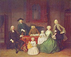Tibout Regters - Portrait of the Mennonite minister Jan Brak and his family.
