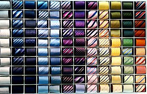 Necktie - A collection of different colors of ties.