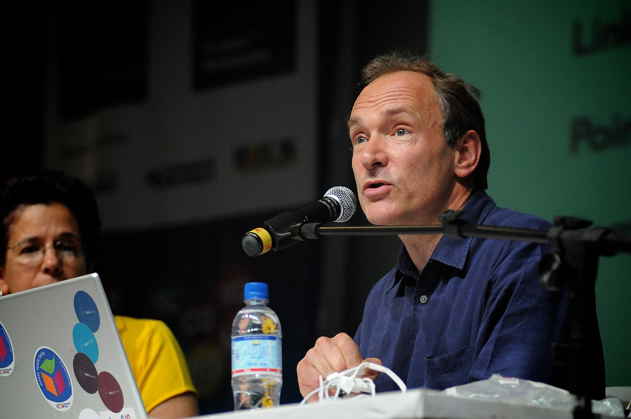 A photograph of Sir Tim Berners-Lee