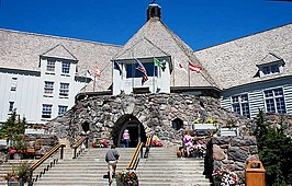De Timberline Lodge in de zomer