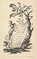 Title page- a smiling man holds a corner of a cloth tied to a fig tree and points with a stick to the cloth's inscription, from 'Recueil de plusieurs jeux d'enfants chinois' after Jean Pillement MET DP829045.jpg