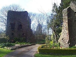 John Courtenay, 15th Earl of Devon - Ruins of Tiverton Castle, seat of the Earls of Devon