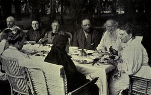 Sophia Tolstaya - The family circle at Yasnaya Polyana. c. 1905
