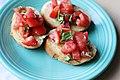 Tomato and basil bruschetta (4925749658).jpg