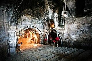 Лестница в церкви Успения Богородицы в Гефсимании