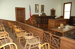 Tombstone Courthouse State Historic Park - Image: Tombstone courthouse shp courtroom