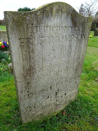 J. Eric S. Thompson - Thompson's grave at Ashdon, Essex.
