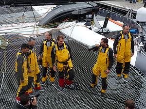 Tonnerres de Brest 2012 - Equipage du Spindrift Racing - 003.JPG