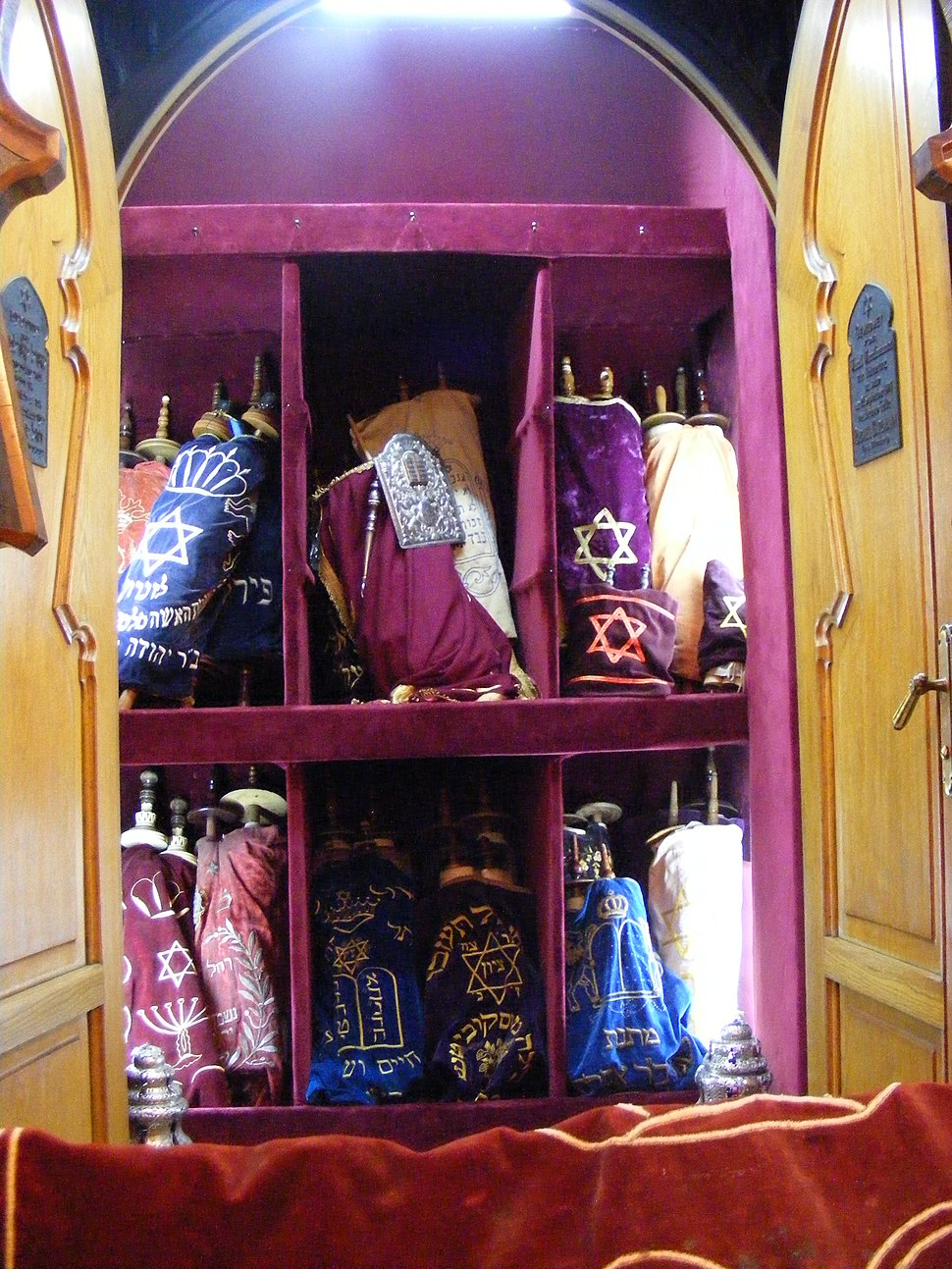 Toras in Istanbul Ashkenazi Sinagogue