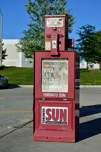 Toronto Sun - A Toronto Sun newspaper vending machine