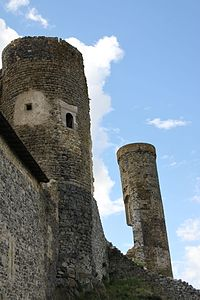 Tours du château de Montmorin.JPG