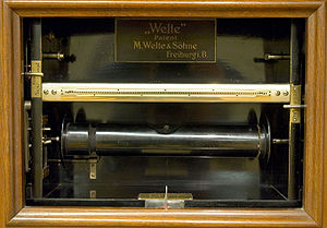 Piano roll - Tracker bar of a Welte-Mignon
