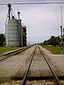 Train tracks in Onarga, Illinois.JPG