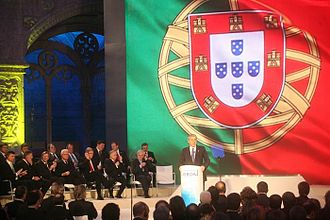 Signing of the Treaty of Lisbon - José Sócrates giving his speech prior to the signing ceremony