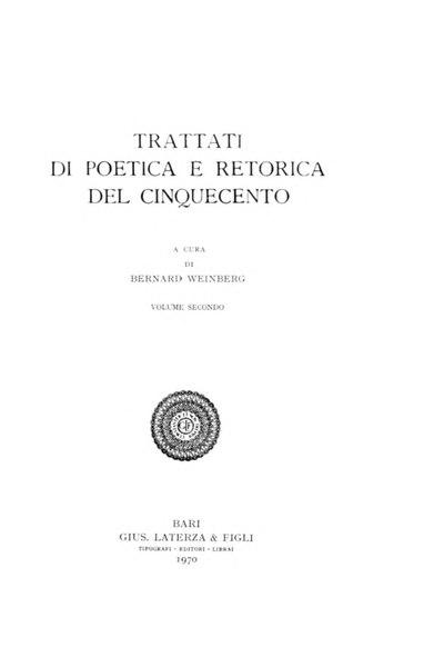 File:Trattati di poetica e retorica del Cinquecento, Vol. II, 1970 – BEIC 1951962.djvu