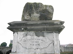 Treaty Stone on which the Treaty of Limerick was signed - geograph.org.uk - 396927.jpg