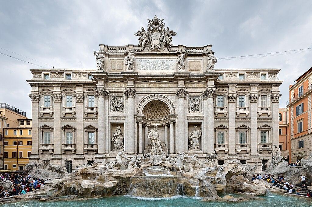 La fontaine de Trevi.  (définition réelle 3500×2325)