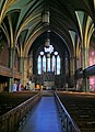 Trinity Church Nave on the Green New Haven just after dawn, October 20, 2012.jpg