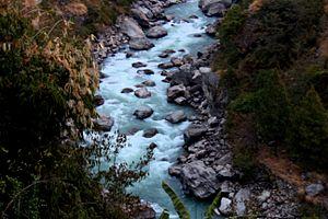 Trishuli River - Trisuli River in Rasuwa
