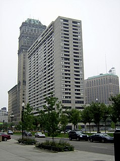 Detroit City Apartments high-rise in downtown Detroit, Michigan