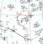 Tropical Storm Olga surface analysis 24 August 1964.png