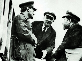 Bolsheviks - Leon Trotsky, Vladimir Lenin and Lev Kamenev