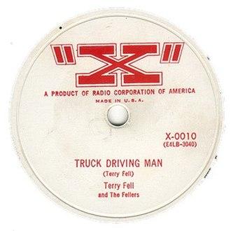 "Terry Fell - ""Truck Drivin Man"" record"