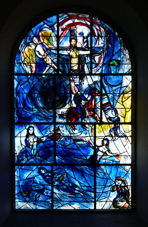 Chagall's Window at All Saints Church Tudeley,...