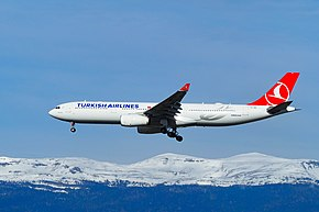 Turkish Airlines A330-343 (TC-JNN) preparing to land.jpg