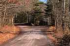 Two roads forking off in Luzerne County, Pennsylvania.JPG