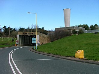 Tyne Tunnel - Tyne Tunnel northern entrance before refurbishment