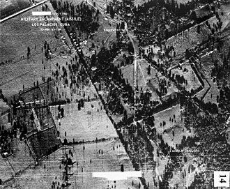 Imagery intelligence - Soviet truck convoy deploying missiles near San Cristobal, Cuba, on Oct. 14, 1962 (taken by a U-2)